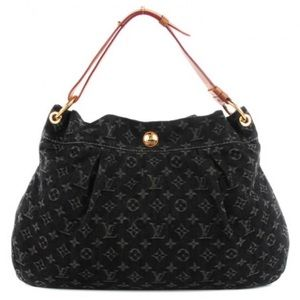 EUC Louis Vuitton Black Denim Noir Daily PM Bag